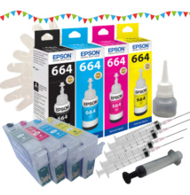 T1811-T1814 kompatibilis újratölthető tintapatron csomag (eredeti tintával)