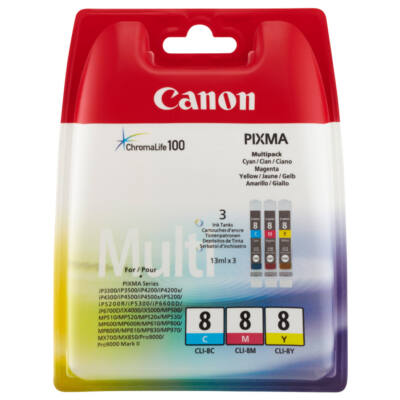 Canon CLI-8 Multipack (Cyan, Magenta, Yellow) (Eredeti)