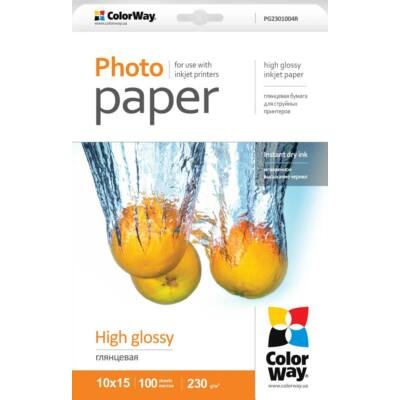 Fotópapír ColorWay high glossy 230 g/m², 10х15, 100 lap  PG2301004R