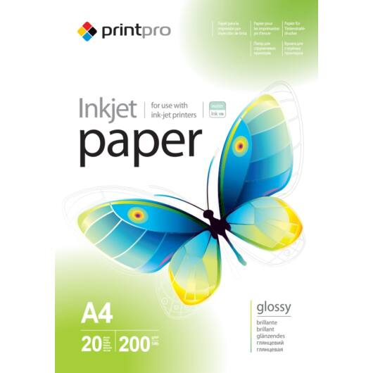 Fotópapír ColorWay PrintPro high glossy 200 g/m², A4, 20 lap PGE200020A4