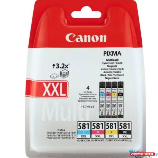 Canon CLI581XXL Patron MULTIPACK C/M/Y/Bk /eredeti/