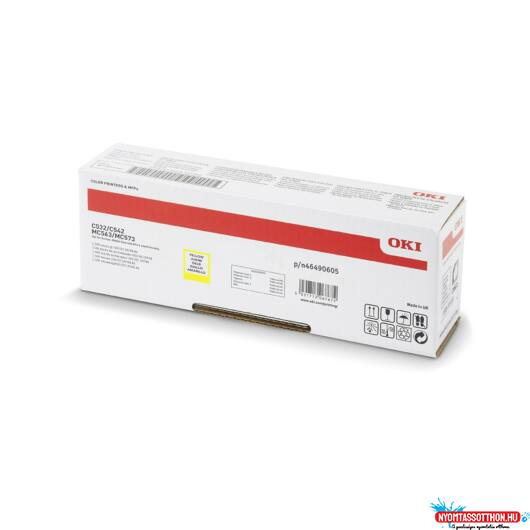 Oki C532/C542 High Toner Yellow 6K (Eredeti)
