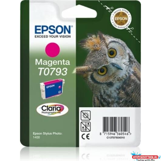 Epson T0793 Patron Magenta 11ml (Eredeti)