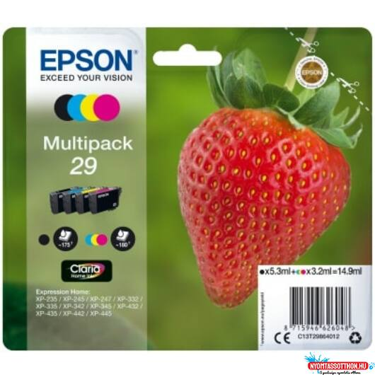Epson T2986 Patron Multipack 29 (Eredeti)