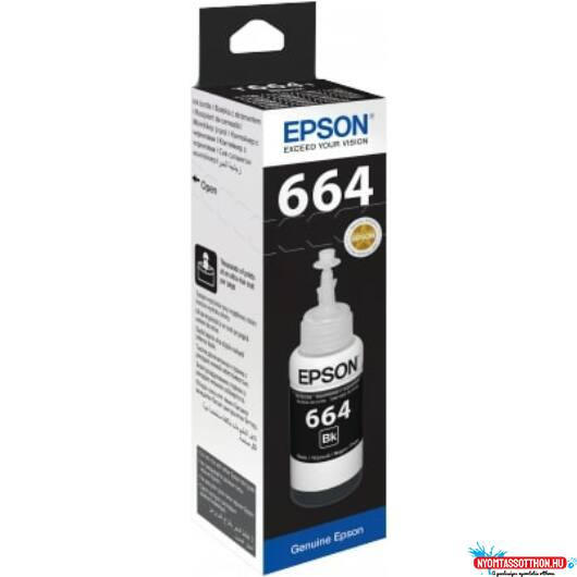 Epson T6641 Tinta Black 70ml (Eredeti)