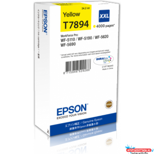 Epson T7894 Patron Yellow 4K (Eredeti)