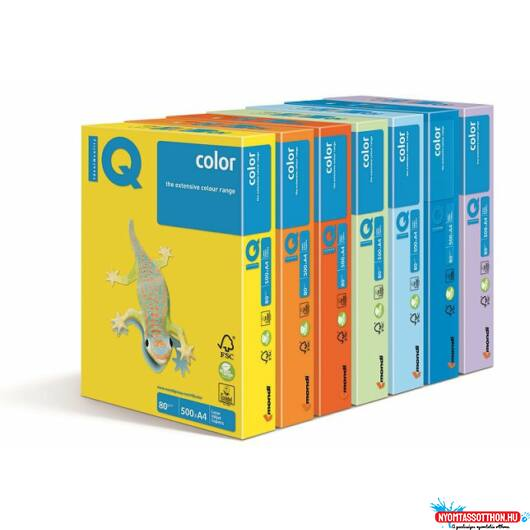 IQ Color A4 80g. YE23 Sárga, anyagában színezett másolópapír