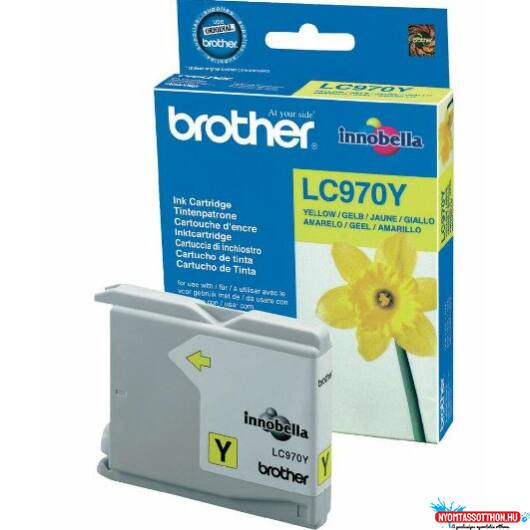 Brother LC970 tintapatron Yellow (Eredeti)
