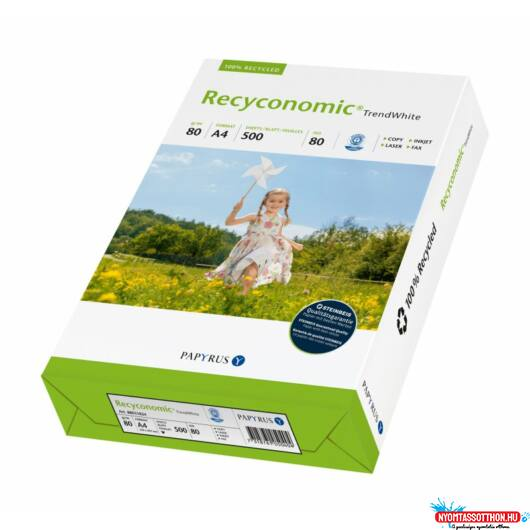 A/4 Recyconomic Trend White 80g. újrahasznosított másolópapír