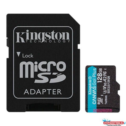 SD 128 GB Kingston Micro SDXC U3 UHS-I 1Adapter