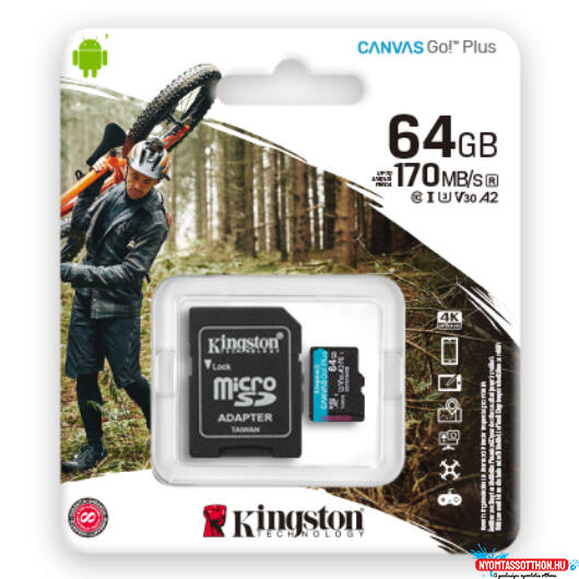SD 64 GB Kingston Micro SDXC U3 UHS-I 1Adapter