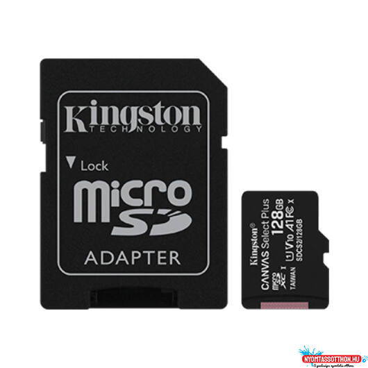 Kingston MicroSDXC 128GB Class10 1Adapter