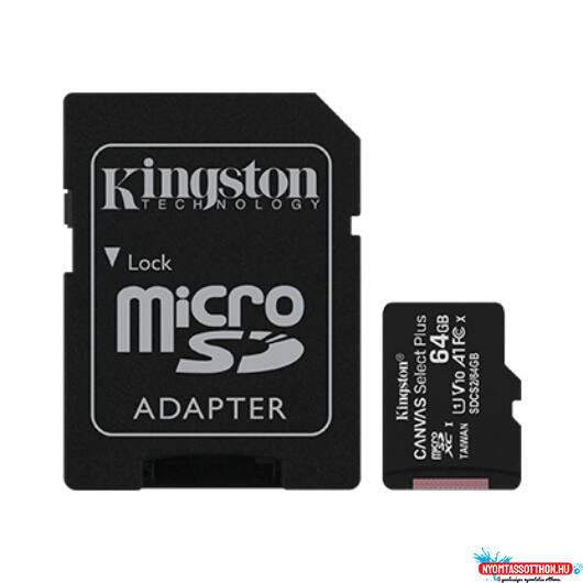 Kingston MicroSDXC 64GB Class10 1Adapter