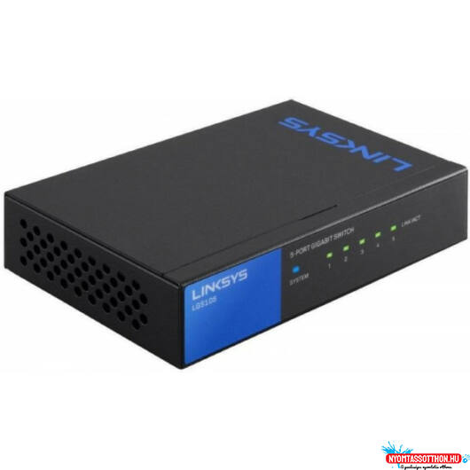 LINKSYS Switch LGS105-EU 5-Port Gigabit üzleti, asztali